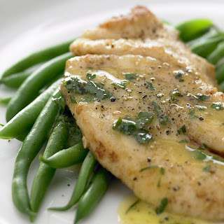 Fish With Lemon Butter Sauce.