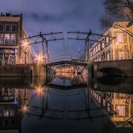 Canal Schiedam city Netherlands  by Henk Smit - City,  Street & Park  Historic Districts