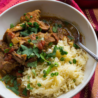 Crock Pot Coconut Pork Curry.