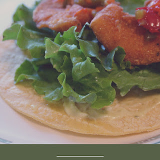 Spicy Fish Tacos with Garlic-Chive Aioli