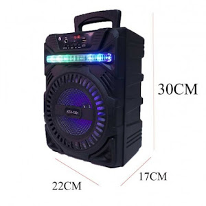Boxa portabila Bluetooth cu lumina LED si microfon, model KTX-1301