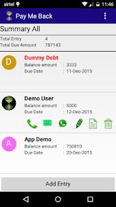 Pay Me Back (Business Debt) screenshot 0