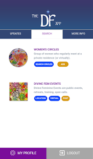 The DF App: Women's Circles- screenshot thumbnail