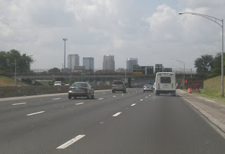 Photo: driving into Birmingham