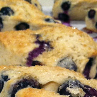 Low Calorie Blueberry Scones.