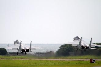 Photo: 07から編隊離陸するF-15J/DJを450mmで撮影