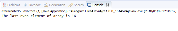 Java - tìm số chẵn cuối cùng trong mảng 1 chiều số nguyên