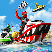 Water Jet Ski Boat Racing 3D Icon
