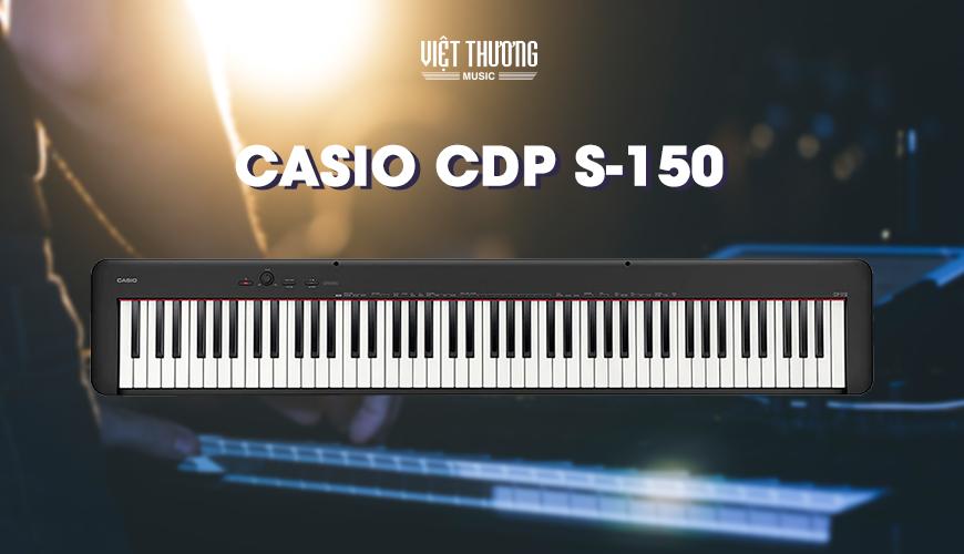 Đàn Casio CDP-S150 còn nổi trội hơn các sản phẩm piano điện cùng phân cấp khác khi có thể sử dụng pin rời. Bạn có thể biểu diễn tại bất kỳ đâu mà không cần lo tới nguồn điện. Đàn hoàn toàn có thể chơi hết công suất trong thời gian lên tới 13 giờ liên tục.