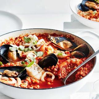 Seafood And Tomato Fregola.