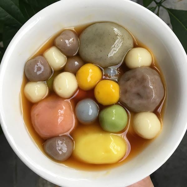 蘇媽媽湯圓-不用跑南投就可以在台中吃到,彩色湯圓好療癒