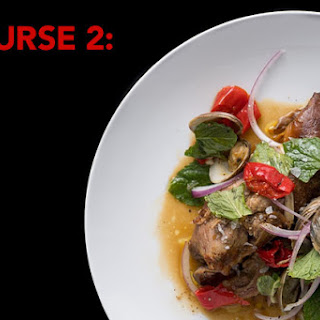 Braised Lamb Shoulder with Clams, Pickled Chiles, and Mint