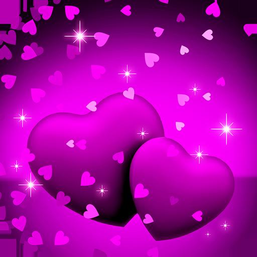 Download 300 Wallpaper Bergerak Love Ungu HD