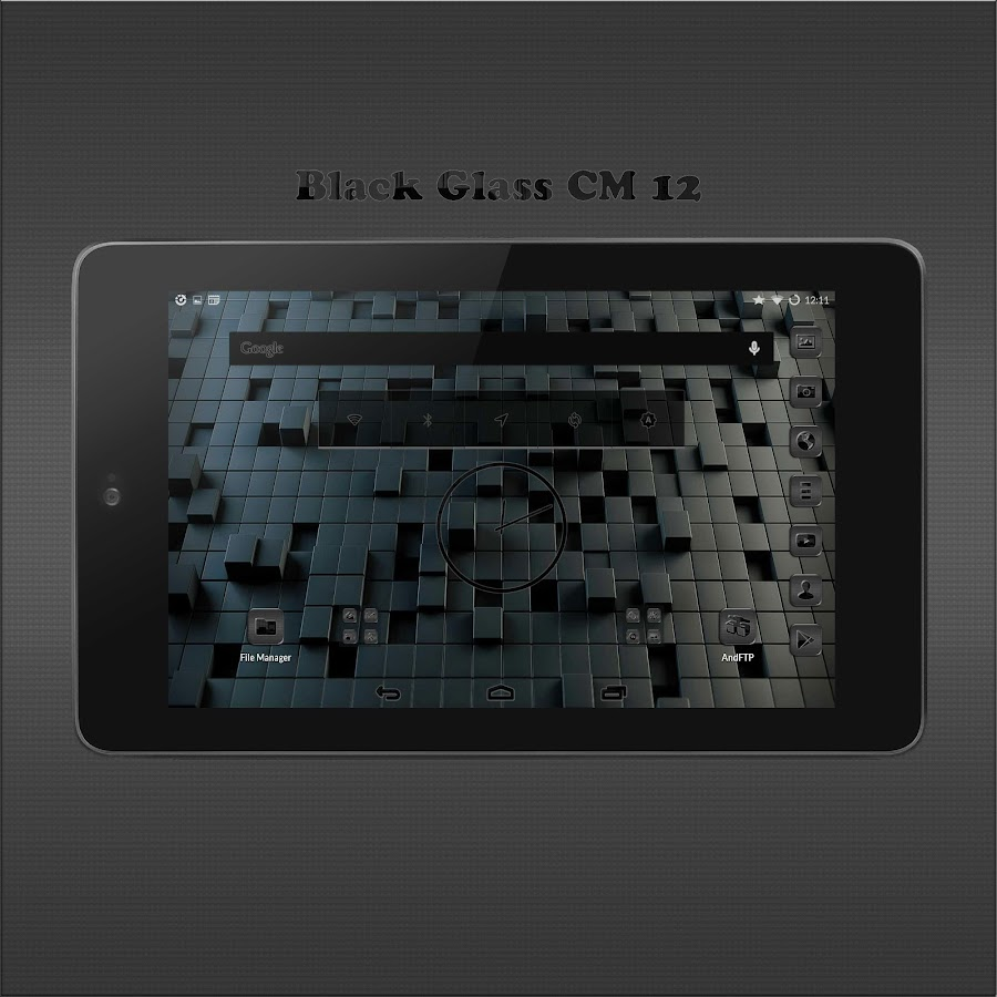Black Glass CM13- screenshot