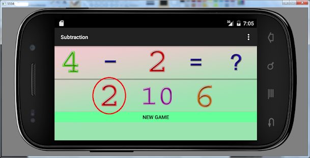 5year trainer subtraction game - náhled