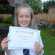 Photo: Millie's certificate for Academic Progress