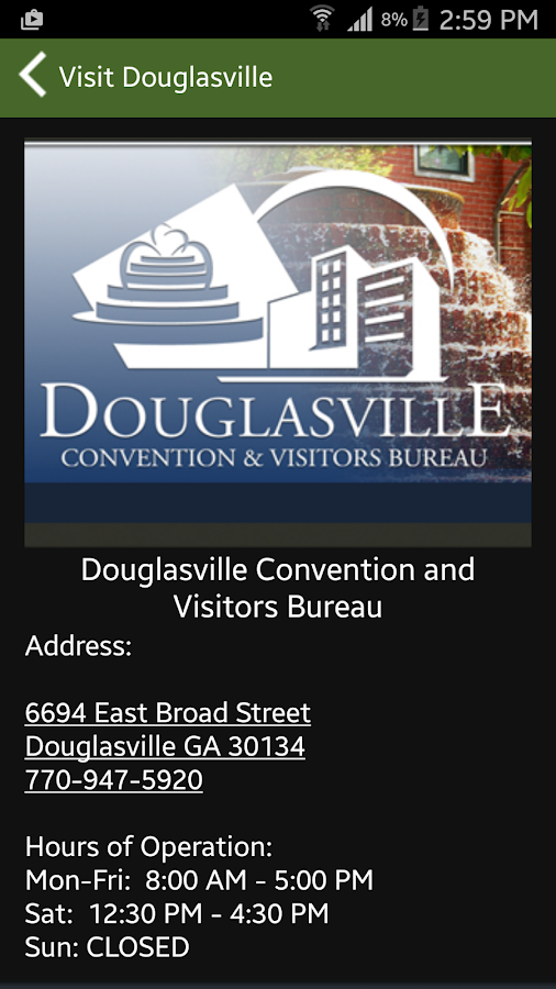 Visit Douglasville- screenshot