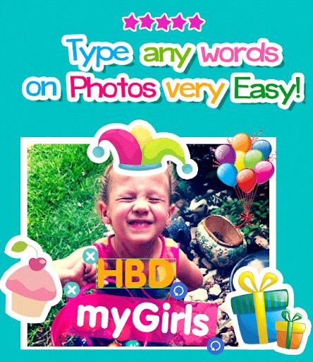 生日快乐贴纸照片编辑器