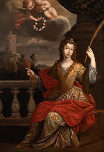Senén Vila - Portrait de femme peinte sous le nom de Sainte Barbe