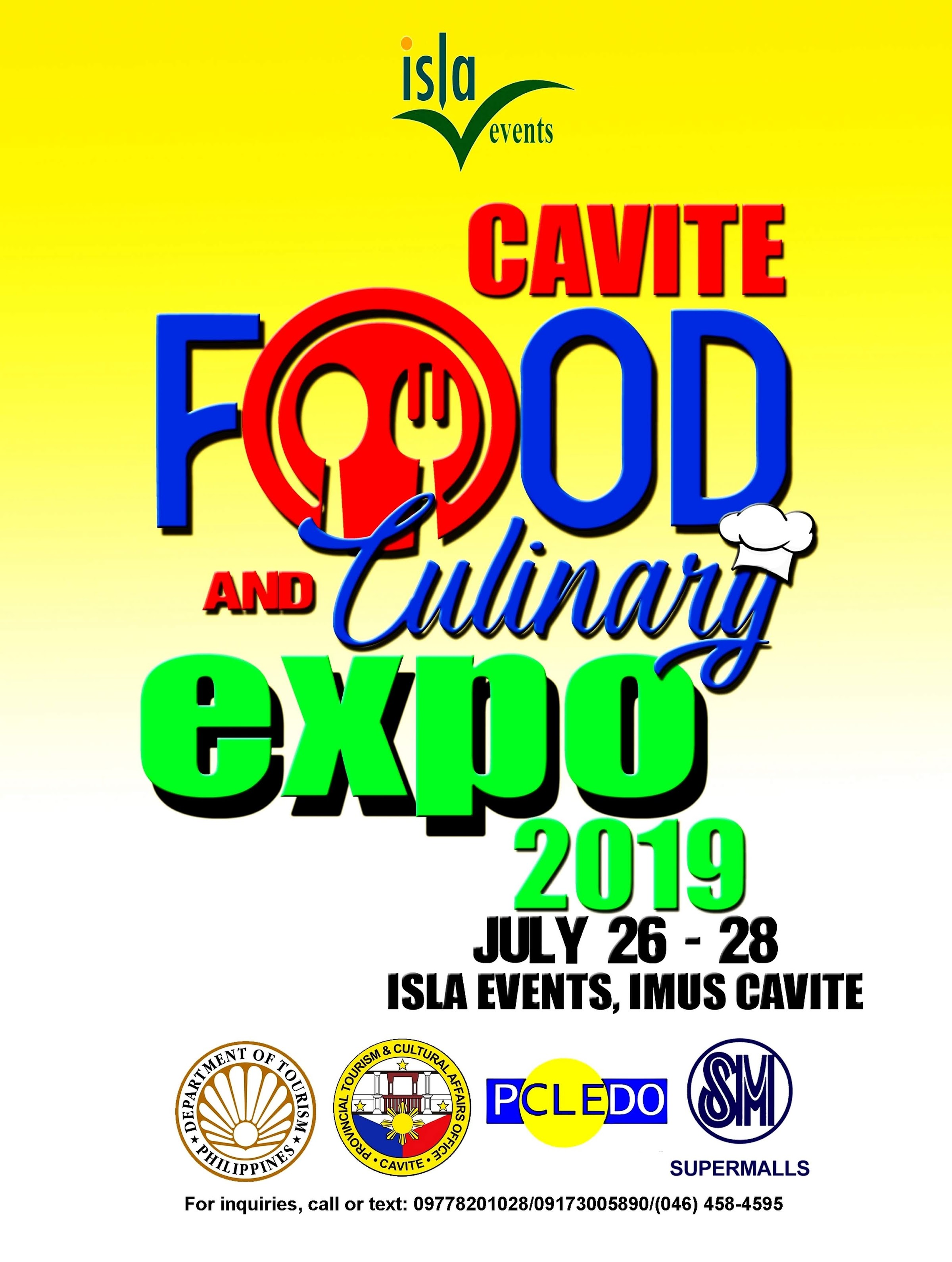 Schedule of Events at Cavite Food and Culinary Expo 2019