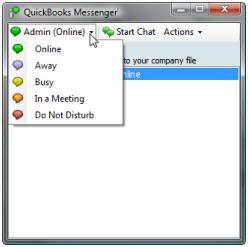 Status availability of QuickBooks