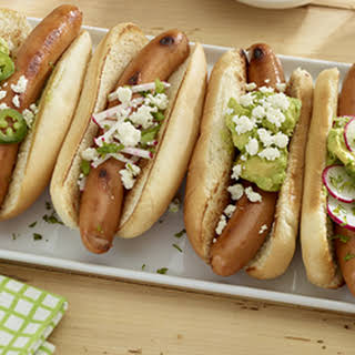 Grilled Franks with Guacamole.