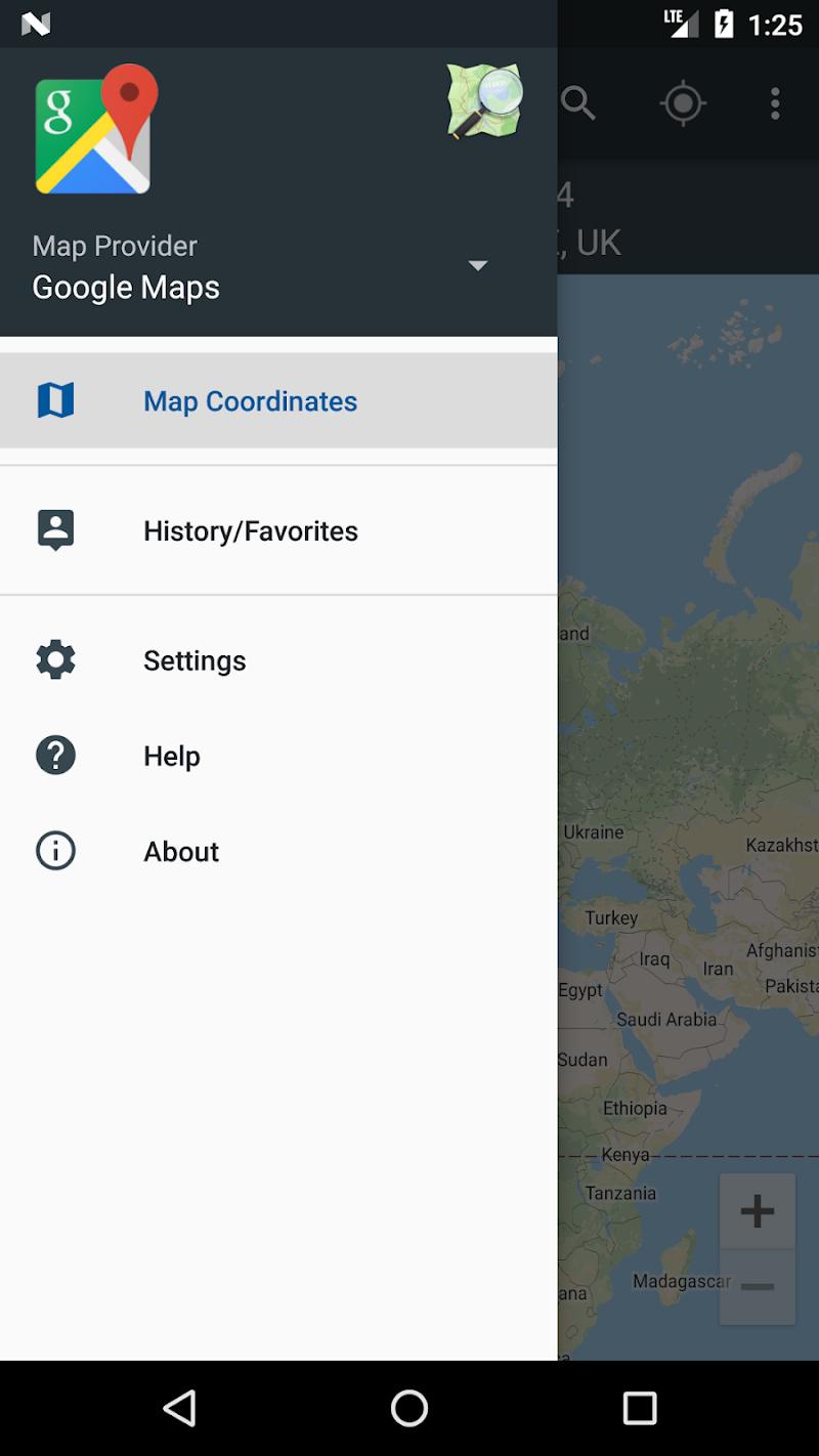 Map Coordinates Screenshot 1