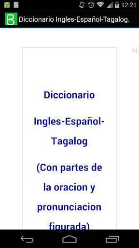 Ingles-Español-Tagalog