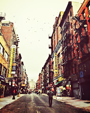 """Photo: """"Yesterday's thoughts...""""  On cold city mornings, birds pepper the bone-white sky with movement.  And through the haze left over by clouds caught in the scuffle between autumn and winter, the wind rushes through the streets like the ghosts of yesterday's thoughts.    New York Photography: Birds flying over Orchard Street on the Lower East Side    Taken with my phone and edited with Camera+.    You can view this post along with information about where to purchase prints of this image at my site here:  http://nythroughthelens.com/post/38075349280/early-sunday-morning-on-orchard-street-lower-east    Tags: #photography  #newyorkcity  #nyc  #newyorkcityphotography  #nycphotography  #lowereastside  #orchardstreet  #streetphotography  #nycstreetphotography  #cityphotography  #urbanphotography  #cityscape  #mobilephotography  #mobilography  #iphonography  #iphoneography  #iphonephotography  #nycmobilephotography  #writing  #poetry  #prose  #nycstreet  #newyorkstreet"""