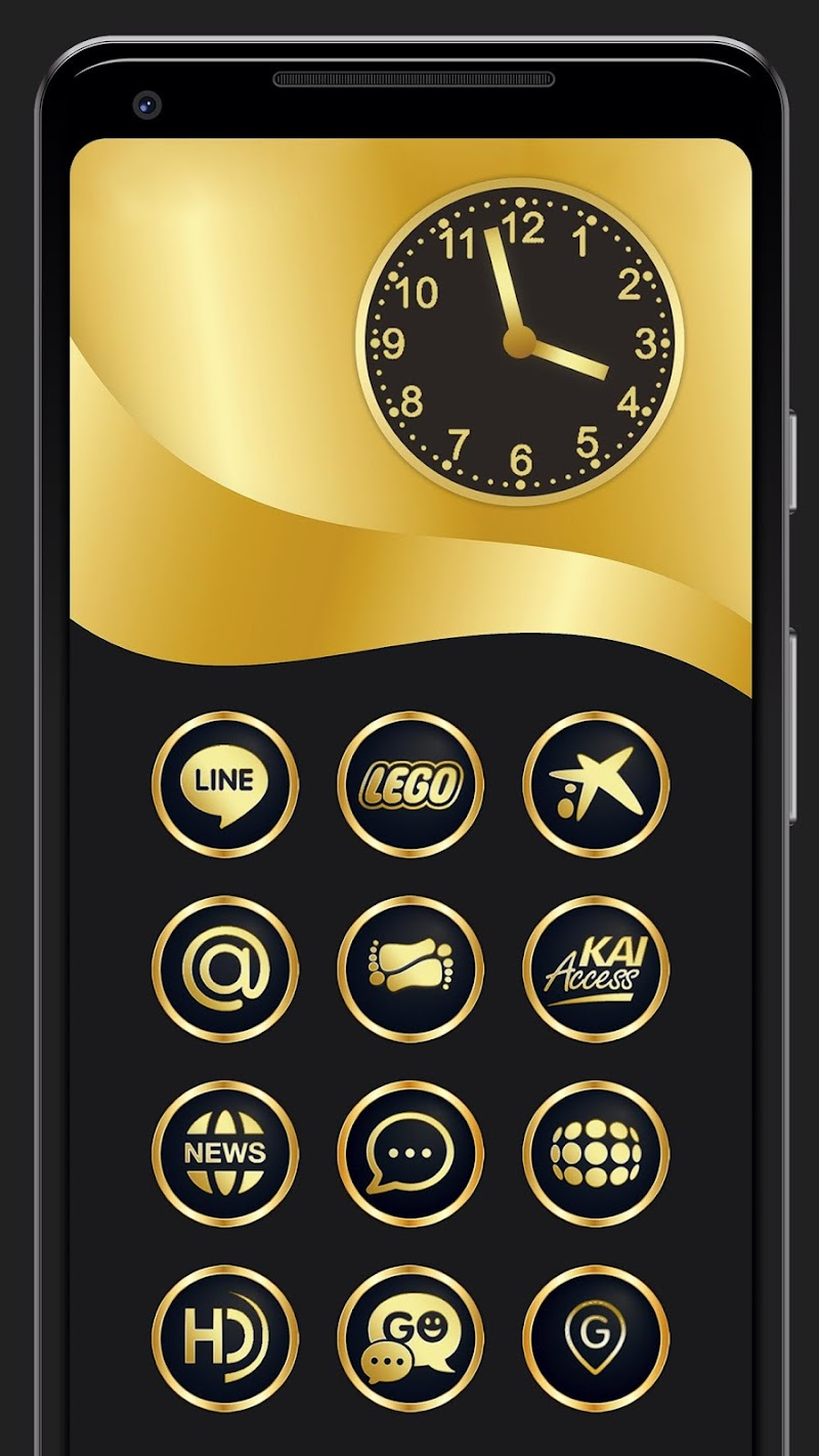 Gold & Black Icon Pack 9010+ icons Screenshot 1