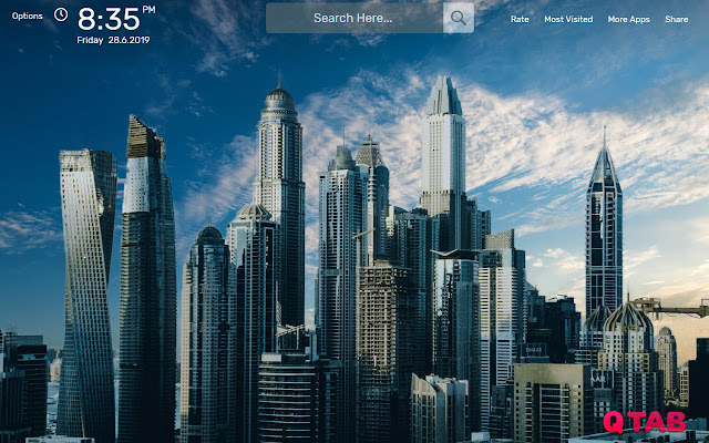 City Wallpapers New Tab Theme