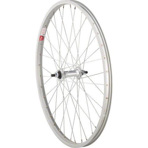 "Sta-Tru Silver Front Wheel 24x1.5"" Solid Axle with 36 Spokes"