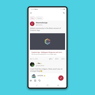 Creative App - Wallpapers Ringtones and more Screenshot