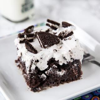 Oreo Poke Cake.