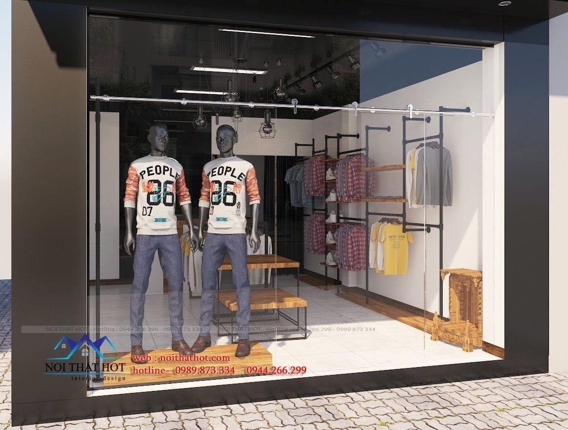 thiết kế shop thời trang nam 3