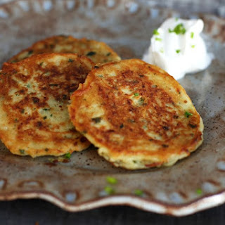 Potato Pancakes with Chives.