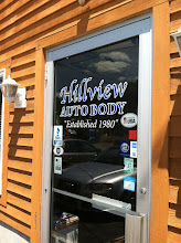 Photo: Hillview Auto Body, Inc. in Johnston, RI proudly displaying their BBB Accreditation.