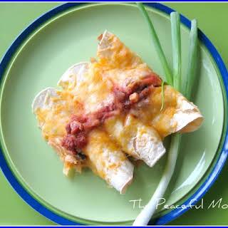 Simple Chicken Enchiladas (gluten free).