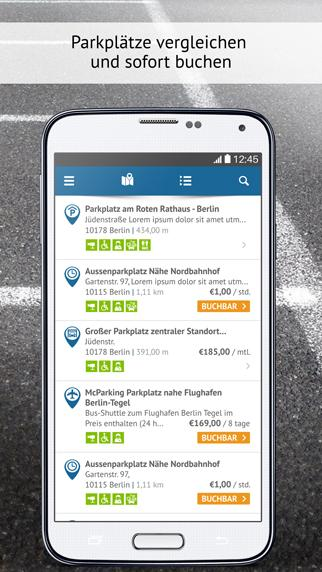 ParkingList – Parkplatz App- screenshot