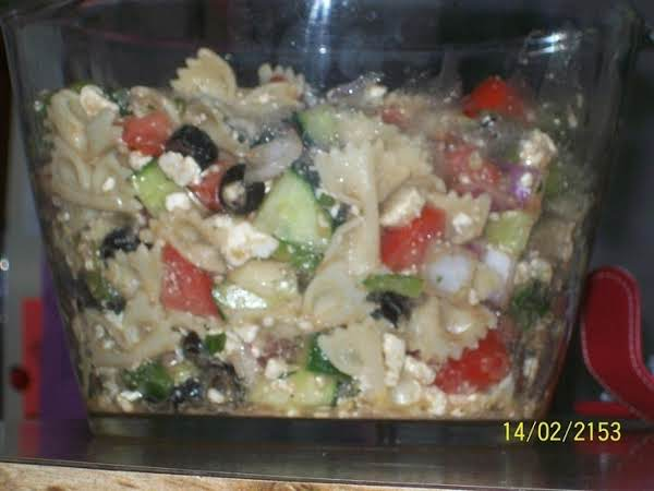 My Greek Pasta Salad Recipe
