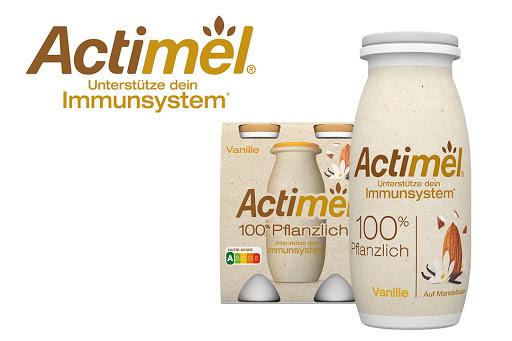 Bild für Cashback-Angebot: Actimel 100% Pflanzlich, Joghurt Drink Vanille, 4x100g - Danone