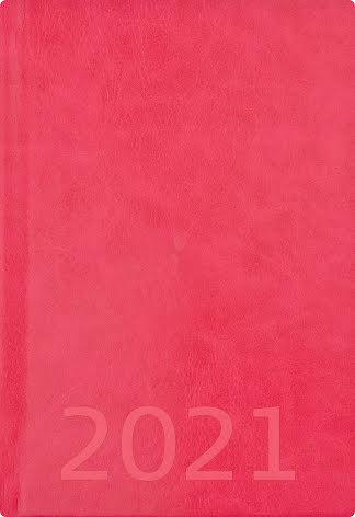 Weekly A5 rosa konstläder