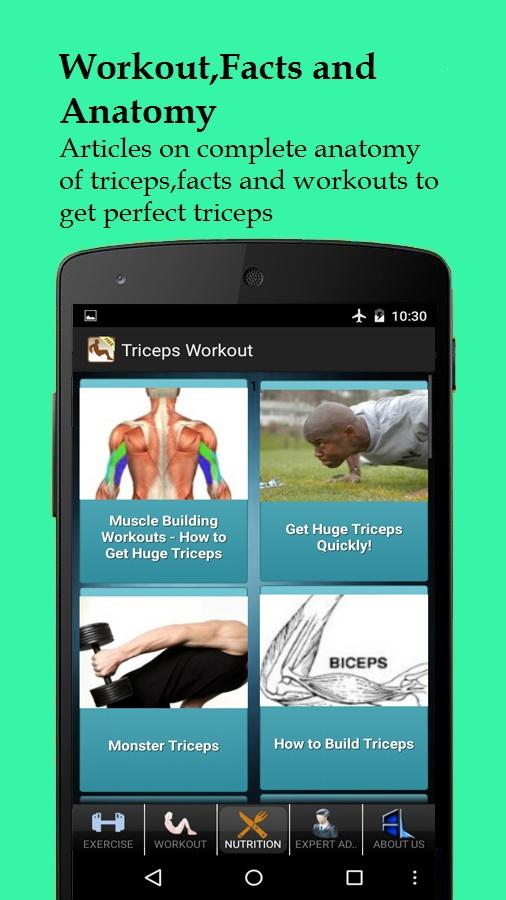 Men's Triceps Workout - screenshot