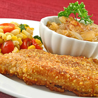 Cornmeal Crusted Catfish with Peach-Onion Jam