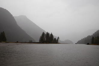 Photo: A paddle up river, in a great downpour.