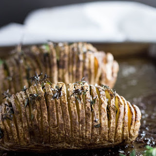 Hasselback Potatoes with Thyme.