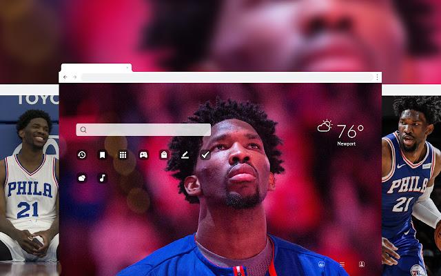 Joel Embiid NBA Basketball HD Theme