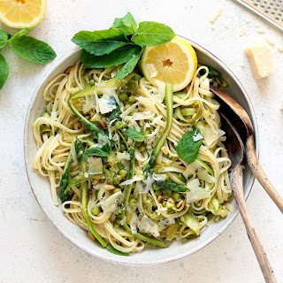 Asparagus Pasta with Lemon and Mint.