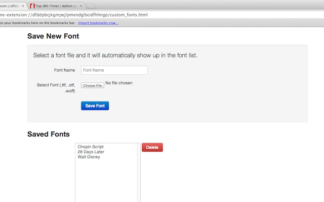 Font Changer with Google Web Fonts™