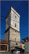 Photo: Cluj-Napoca, Str. Tipografiei, Nr.17 - Turnul Pompierilor din 1405, partea superioară sec. XIX - monument istoric - 2018.01.31